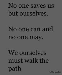 Walk the walk...