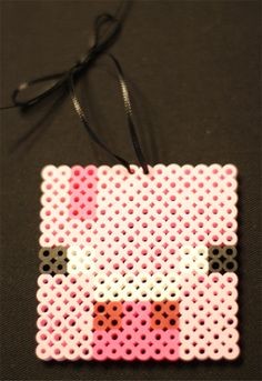 Minecraft Pig Ornament perler beads by TheMightyBeads