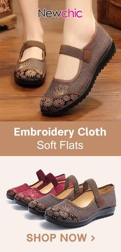 e96404da0c6 Old Peking Embroidery Splice Elastic Band Soft Cloth Flat Shoes is cheap  and comfortable. There are other cheap women flats and loafers online.