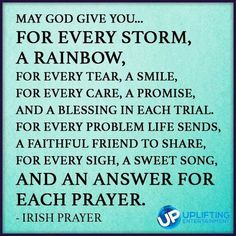 An Irish Prayer of hope.