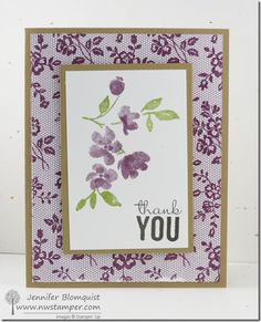 I Love Lace Meets Painted Petails for a Sweet Thank You Card | Northwest Stamper
