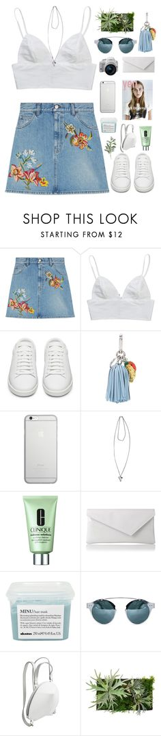 """Untitled #582"" by amy-lopezx ❤ liked on Polyvore featuring Gucci, Yves Saint Laurent, Altuzarra, Native Union, Givenchy, Clinique, L.K.Bennett, Davines, WALL and Pier 1 Imports"