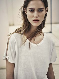 AllSaints Women's February Lookbook Look 8: The Mazzy Tee and Grace Jeans