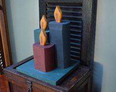 Landhaus Urlaub Weihnachtskerzen Decor handgemachte hölzerne Rustic Kerzen Dekoration Landhaus ich Schiff weltweit
