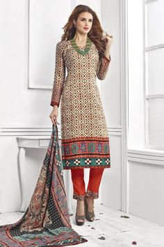 #Newarrival Beige Soft Velvet Straight Digital Printed with Maroon Bottom Salwar Suit at Lalgulal.com #Price :- 2,330/- inr. To #Order :- http://goo.gl/Rwbjyf To Order you Call or #Whatsapp us on +91-95121-50402 COD & Free Shipping Available only in India.