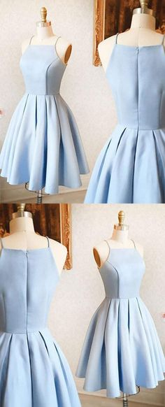 Prom Dresses A-Line, Cute Prom Dresses, Prom Dresses Simple, Prom Dresses Short, Prom Dresses Blue Homecoming Dresses 2018 Light Blue Homecoming Dresses, Dresses Short, Prom Dresses 2018, A Line Prom Dresses, Cheap Prom Dresses, Sexy Dresses, Dress Prom, Light Blue Dresses, Prom Gowns