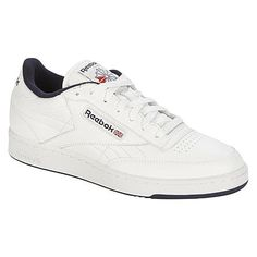 ec52531f592347 Reebok Men s Classic Club-C Casual Athletic Shoe - White Navy Reebok