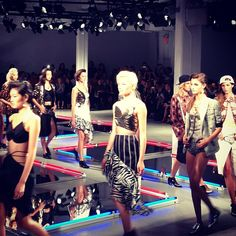 Leather, fringe and animal print at Rodarte's NYFW show