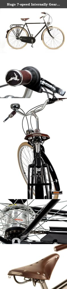 Hugo 7-speed Internally Geared Upright Luxury Bicycle with Classically Lugged Frame and Leather Accessories. Hugo is fresh take on a vintage European classic, built for discerning gentlemen who appreciate style and quality. The ideal rider enjoys taking in the sights and sounds of their local scenery and truly enjoying what the day has to offer. With handsome design and ode to old-fashioned accessories and style, Hugo successfully transports the rider to an uncomplicated time of joy and...