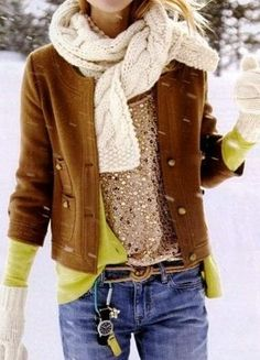 warm style ♥✤ | Keep the Glamour | BeStayBeautiful.Love the layers :)