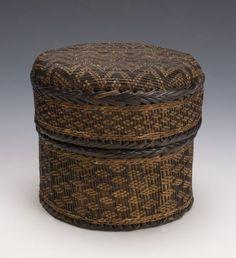 Prestige Basket Kongo Kingdom(Lower Congo/Angola) Late 19th century Raffia