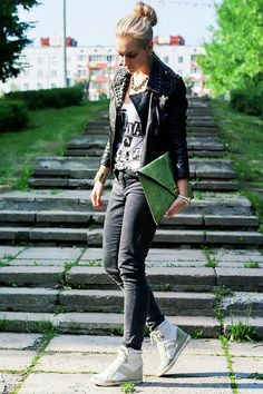 Shop this look on Kaleidoscope (jacket, jeans, sneakers)  http://kalei.do/X0OpdQFHr3MC1nwP