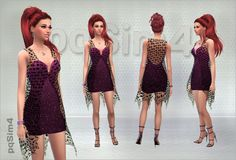 Short Dress with Transparent Vest at pqSims4 • Sims 4 Updates
