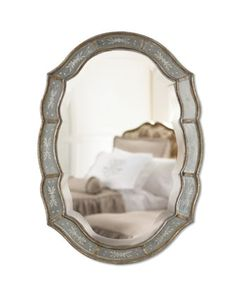 """""""Fifi"""" Etched Mirror at Horchow."""