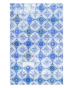 Another great find on #zulily! Blue Tile Shaunte Rug #zulilyfinds