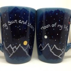 This pair of mugs is perfect for you and your honey. One reads my sun and stars, the other moon of my life. Even non-GOT fans (is there such a