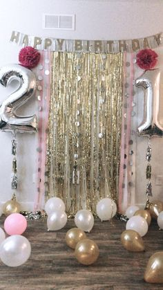 21st Birthday Backdrop For Party Themes 21 Balloons Diy