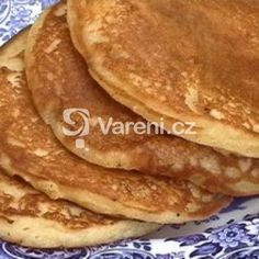 Jemné nadýchané lívance recept - Vareni.cz Pancakes, Food And Drink, Cooking Recipes, Breakfast, Arizona, Pizza, Breakfast Cafe, Flagstaff Arizona, Cooker Recipes