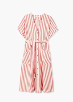 Striped midi dress - Women