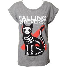 Falling In Reverse Cat Mouse Skinny T Shirt (Grey) ($31) ❤ liked on Polyvore featuring tops, t-shirts, falling in reverse, shirts, checked shirt, cat print t shirt, grey tee, mouse t shirt and checkered shirt