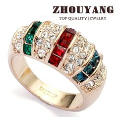 Cheap ring, Buy Quality ring set directly from China ring crystal Suppliers:               BRAND: ZHOUYANG Jewelry   MATERIAL:Ziny&