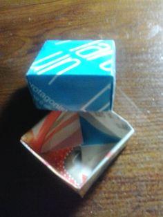 Scatolina origami con carta riciclata