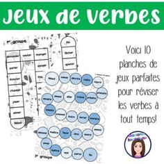 Jouer, Voici, Parfait, Word Search, Words, Tenses Of Verbs, Game Boards, Second Language, Grammar