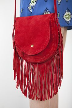 Leather Fringe Crossbody Bag | A-thread