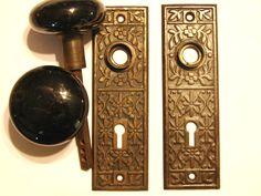 Door Knobs Hardware Antique Restoration Old Original Period Doorknobs Brass  Bronze Cast Iron Parts Victorian