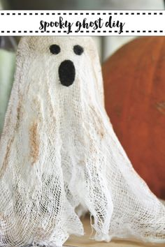 This delightfully spooky little ghost is so easy even the littlest goblins can help make them! Get the DIY on Everyday Party Magazine today! #DIY #Ghosts #Halloween
