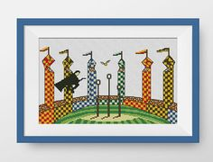 This PDF counted cross stitch pattern available for instant download. Floss: DMC Fabric: 14-count  SIZE: Design Area: 93h x 170w stitches. Area