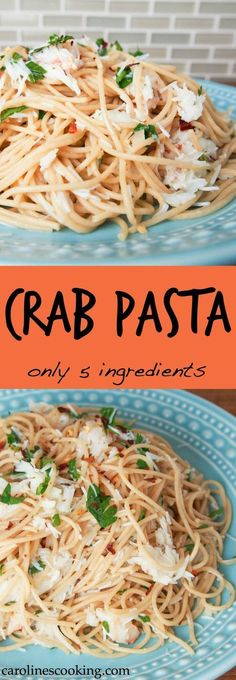 Crab Pasta with only 5 ingredients!