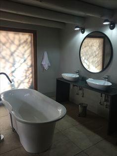 Spacious bathroom at Indlovu River Lodge . ultimately the best! Lodge Bathroom, River Lodge, Bathtub, Standing Bath, Bath Tub, Bathtubs, Tub