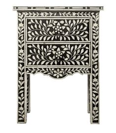 black bone inlay side table - slightly more cost effective option