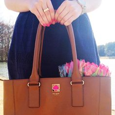 """prepavenue: """"Monday's are always made better with fresh (pink) tulips and gorgeous weather  (at www.prepavenue.com) """""""