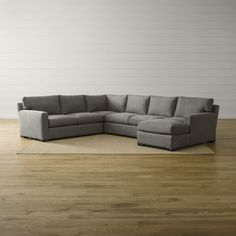 Axis II 4-Piece Sectional Sofa - Crate and Barrel : shop sectional sofas - Sectionals, Sofas & Couches