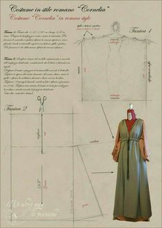 Mar 2020 - Historical and Fantasy Patterns Roman inspired dress pattern. Capture Red Carpet Looks with Pageant and Prom Dresses Article Body: The best prom nights are magical and create memories that will last a Roman Clothes, Diy Clothes, Historical Costume, Historical Clothing, Medieval Dress Pattern, Pattern Dress, Roman Dress, Medieval Clothing, Steampunk Clothing