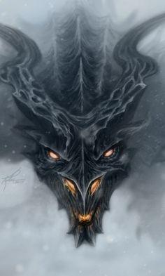 Alduin from Skyrim artwork - Video gaming.