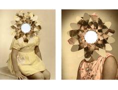 Discussions and ideas about art and textile art Julie Cockburn, Winter Project, Photocollage, Textile Art, Art Inspo, Textiles, Portrait, Inspiration, Collages