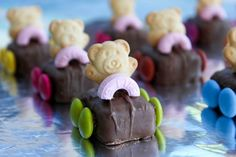 Tiny Teddy cars, teddy bear picnic food