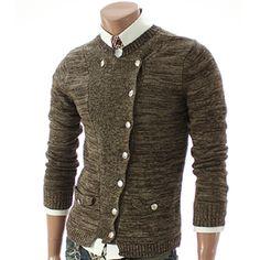 men's casual button cardigan / JINIY
