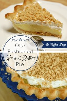 Peanut butter pies are always delicious, but this old-fashioned one is our family's very favorite! Homemade crust filled with peanut butter crumbles, vanilla custard, and real whipped cream. It's incredible! Peanut Butter Cream Pie, Homemade Peanut Butter, Butter Pie, Peanut Butter Recipes, Pie Recipes, Dessert Recipes, Recipies, Sweet Recipes, Easy Recipes