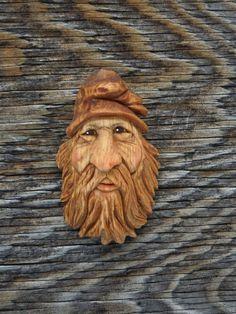 Original Wood Spirit Carving Ooak Hobbit Sorcerer Gnome Wizard Scott Longpre