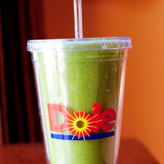 Green Monster Spinach Smoothie 	frozen sliced banana 1	Tablespoon peanut butter ½	cup 0% Vanilla Chobani Greek yogurt 1	cup Unsweetened Vanilla Almond Breeze (or other kind of milk) 4	cups baby spinach (or more, or less)