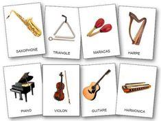 Référentiel d'images instruments de musique 3 écritures