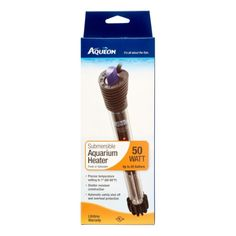 Aqueon Glass Adjustable Submersible Aquarium Heater, 50 Watt, As Shown