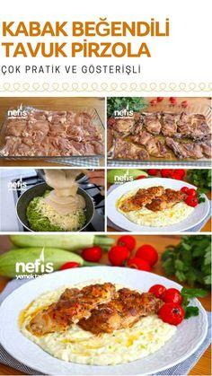 Videolu anlatım Kabak Beğendili Tavuk Pirzola (Harika bir lezzet kaçırmayın) Tarifi nasıl yapılır? #kabak #beğendi #tavuk #ramazan #iftar
