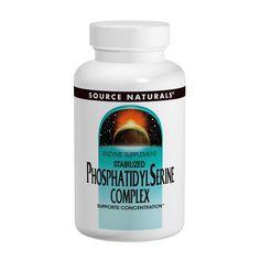 Source Naturals, Stabilized Phosphatidylserine Complex, 500 mg, 60 Softgels