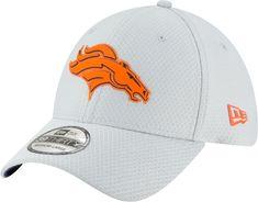 new york 9821b a1b79 New Era Men s Denver Sideline Training Camp 39Thirty Grey Stretch Fit Hat