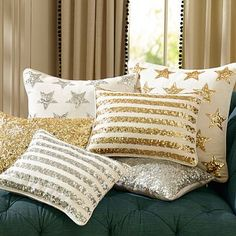 The Emily + Meritt Sequin Pillow Covers at PB Teen...I'd like ALL of them, please!